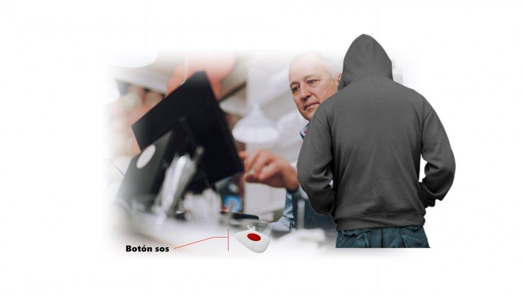 Imagen que representa un ladrón intentando robar a una persona